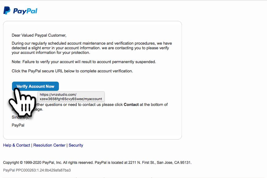 Email Von Service Paypal